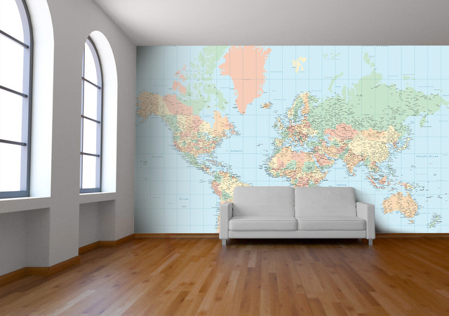 Classic World Map Wallpaper