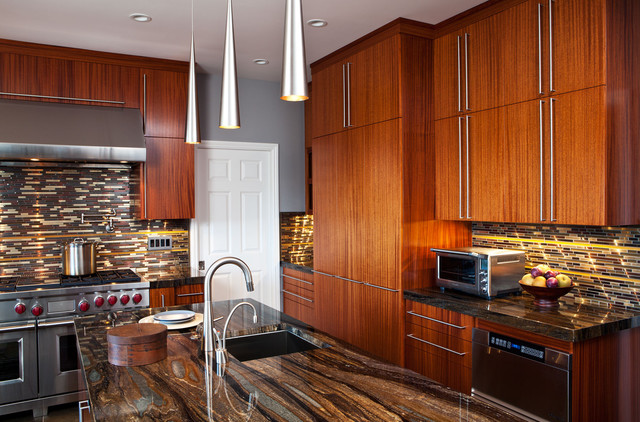 African Mahogany Kitchen