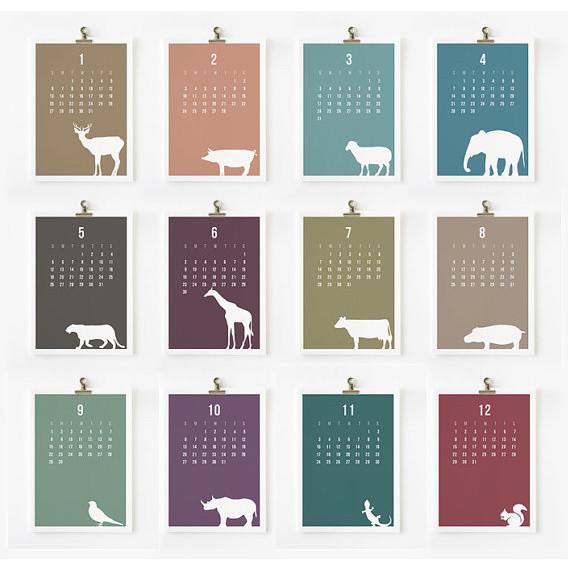Wild Animal 2013 Calendar By Loopz Contemporary