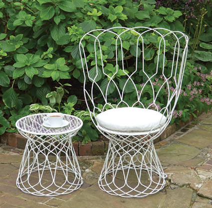 wire chair outdoor 2