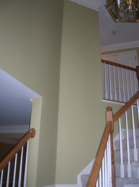 Houzz Two Story Foyer : Two story foyer wall dc metro by zampiello paint