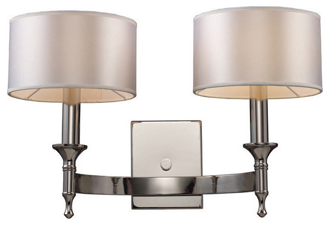 REPLACEMENT SHADE for Elk Lighting Pembroke 2-Light Sconce in Polished Nickel - Contemporary ...