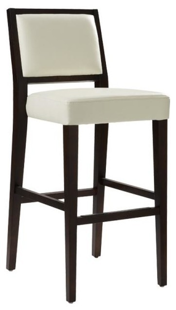 Counter Height Leather Bar Stools : Leather Stool, Ivory, Bar Height - Bar Stools And Counter Stools ...