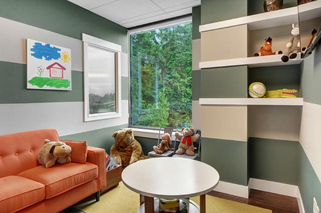 Design Studio Bellevue Wa Nyklassisk Barnrum Seattle Av Quadrant Homes