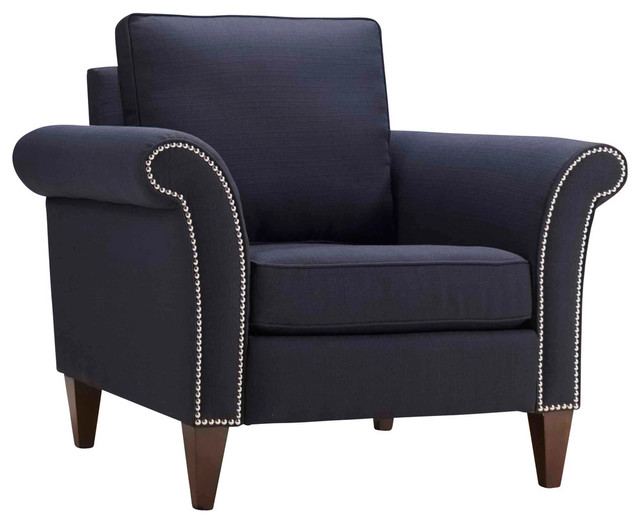 Pippa Chair Midnight Blue Transitional Armchairs And