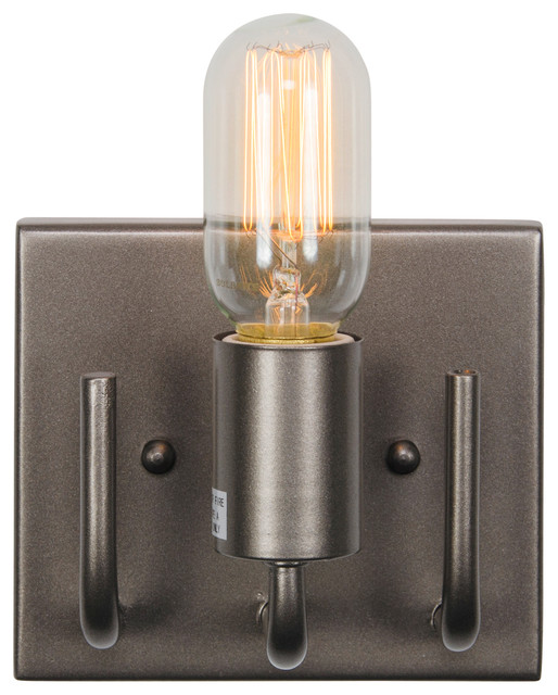 Socket to Me 1-Light Vanity, New Bronze - Bathroom Vanity Lighting - by Varaluz