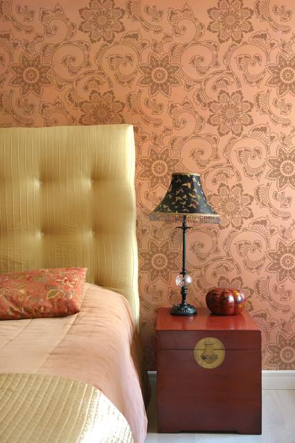 Kimono allover stencil asian wall stencils san diego by royal design studio stencils - Oriental stencils for walls ...