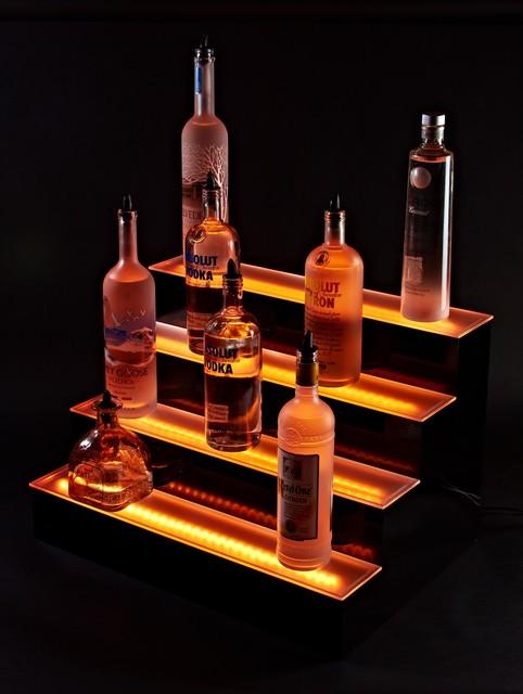 5 39 l 4 tier liquor bottle shelf display traditional. Black Bedroom Furniture Sets. Home Design Ideas