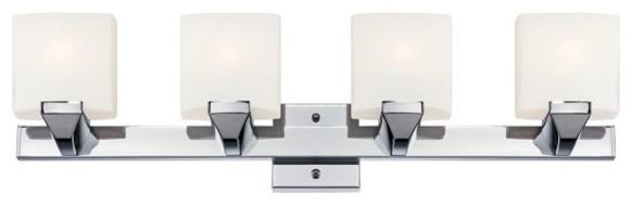 European Bathroom Vanity Lights : Possini Euro Chrome Modern Bathroom Light - Contemporary - Bathroom Vanity Lighting - by Euro ...
