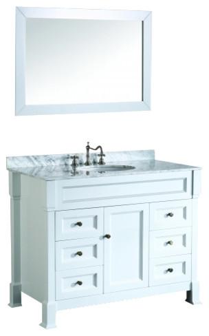 bosconi sb 278 43 inch single vanity white finish bathroom vanities