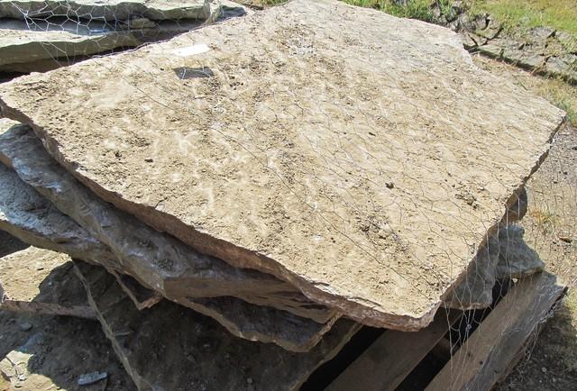 Laying Natural Stone : Oklahoma choctaw multi blend lay down slabs natural stone