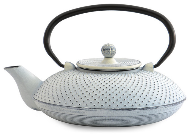 Cast iron teapot dot white contemporary teapots by berghoff international inc - Elephant cast iron teapot ...