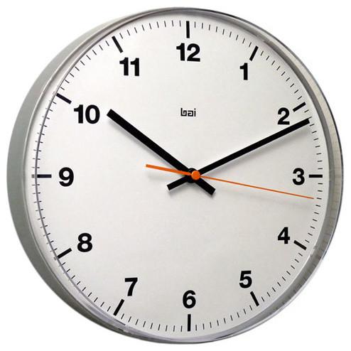 White 11 Inch Lucite Wall Clock Accuron Modern Clocks