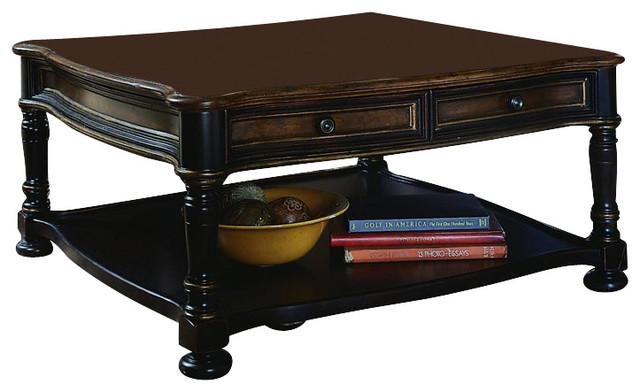 Hooker Furniture Preston Ridge Cocktail Table Square Traditional Coffee Tables By Seldens
