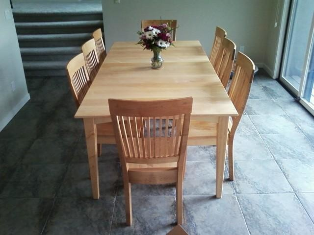 Solid Maple Prairie Dining Table Transitional Dining Chairs Denver By Boulder