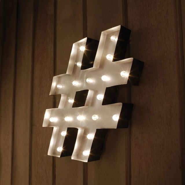 Hashtag decorative led marquee sign contemporary for Bathroom design hashtags