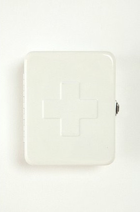 First Aid Storage Box, White - Contemporary - Emergency ...