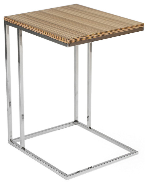Wilson Side Table, Zebrano - Contemporary - Side Tables & End Tables