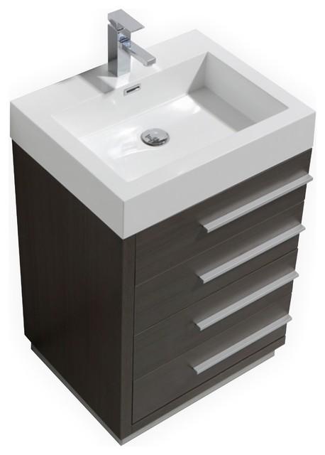 Kubebath Tona Modern Bathroom Vanity With Four Drawers 24
