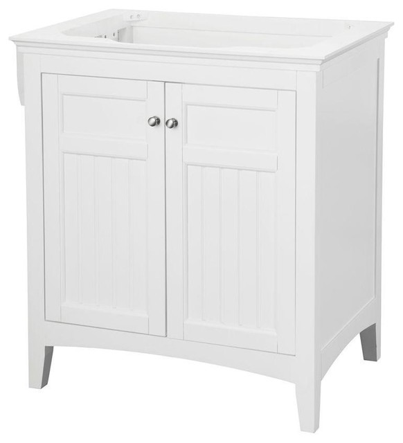 carrabelle vanity cabinet only white 30 contemporary