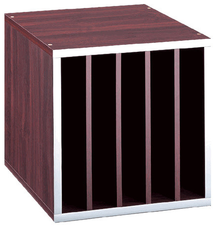 File Sorter Cube, Walnut - Traditional - Storage And Organization - by Organize