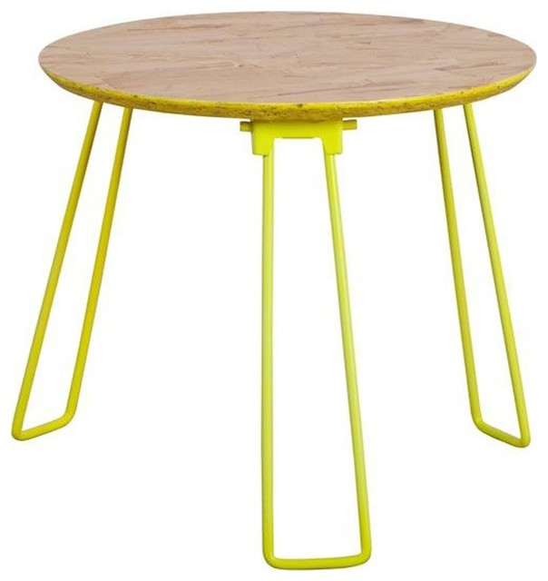 table basse m tal fluo osb medium couleur jaune modern coffee tables by. Black Bedroom Furniture Sets. Home Design Ideas