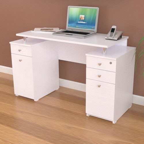 Computer Desk with Accessory Drawers modern-home-office-accessories