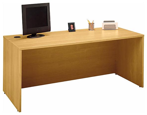 72 in. Manager's Desk in Light Oak - Series C - Desks And ...