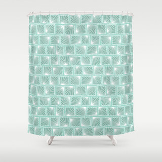 Lily Pad Sea Foam Green Shower Curtain Contemporary Shower Curtains Portland Maine By
