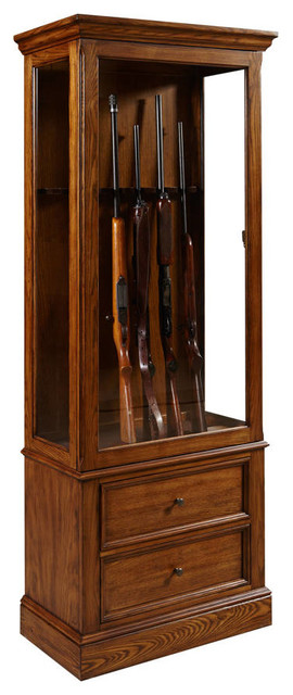 Wood Glass Gun Cabinet, Light Wood Color - Contemporary - China Cabinets And Hutches - by The ...