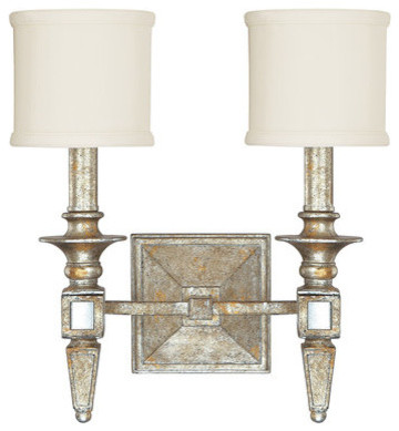 Bathroom Vanity Lights Traditional : Palazzo 2-Light Bathroom Wall Sconce - Traditional - Bathroom Vanity Lighting - by Buildcom