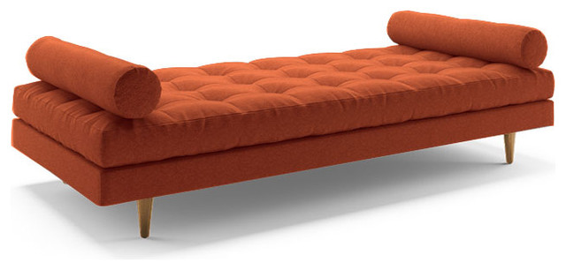 eliot daybed cordova picante orange midcentury