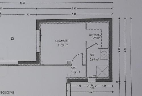 Besoin d 39 aide pour salle de douche dans suite parentale - Plan suite parentale 15m2 ...