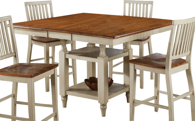 Steve Silver Candice 54x42 Counter Height Table In Oak And