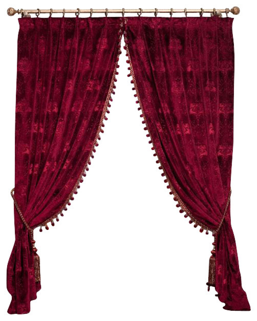 Red Velvet King Curtains - Modern - Curtains - by Ulinkly