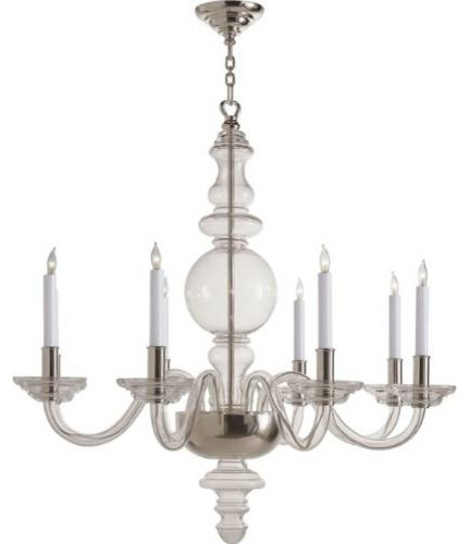 Visual Comfort CHC1144CG Chart House 8 Light Round Chandelier in Crystal with Po - Modern ...