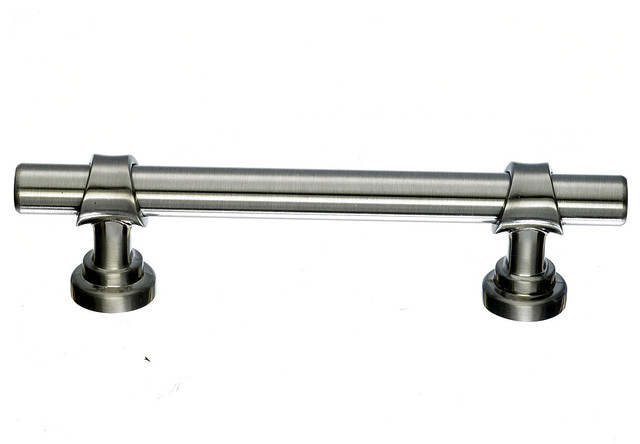 Brushed Nickel Drawer Pulls, 3 3/4 in. - Contemporary ...