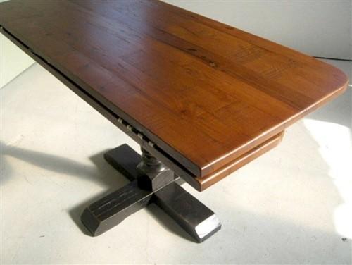 Square Reclaimed Oak Drop Leaf Table With Pedestal Base
