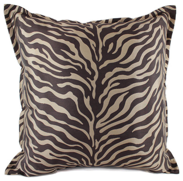 True Modern Pillows : Sherry Kline True Safari Taupe 18-inch Pillow - Contemporary - Scatter Cushions - by Overstock.com