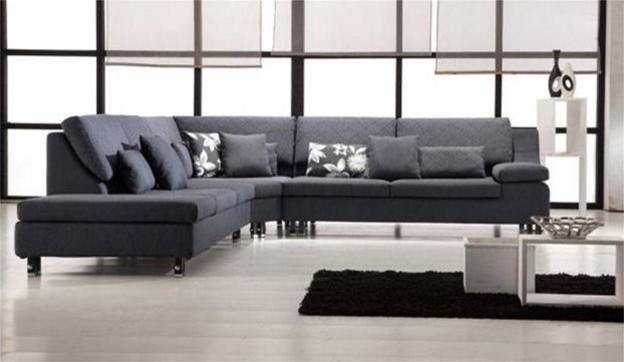 Bexar Microfiber Sectional Sofa Modern Sectional Sofas