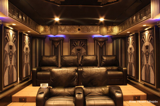 art deco home theater contemporary home theater new york by home theater lifestyles. Black Bedroom Furniture Sets. Home Design Ideas