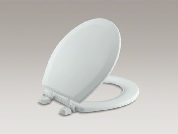 KOHLER Triko(TM) round-front toilet seat with plastic hinges - Contemporary - Toilet Seats - by ...
