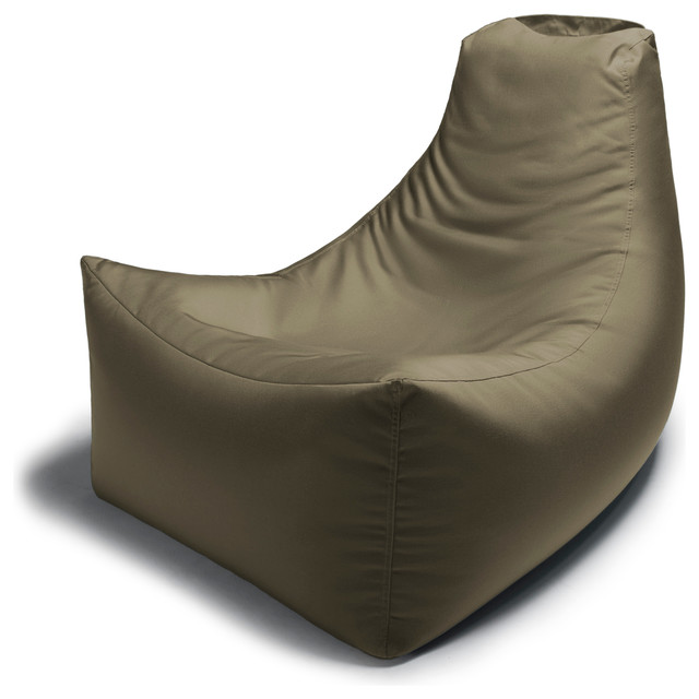 Juniper Outdoor Bean Bag Chair Taupe Contemporary Garden Lounge Chairs