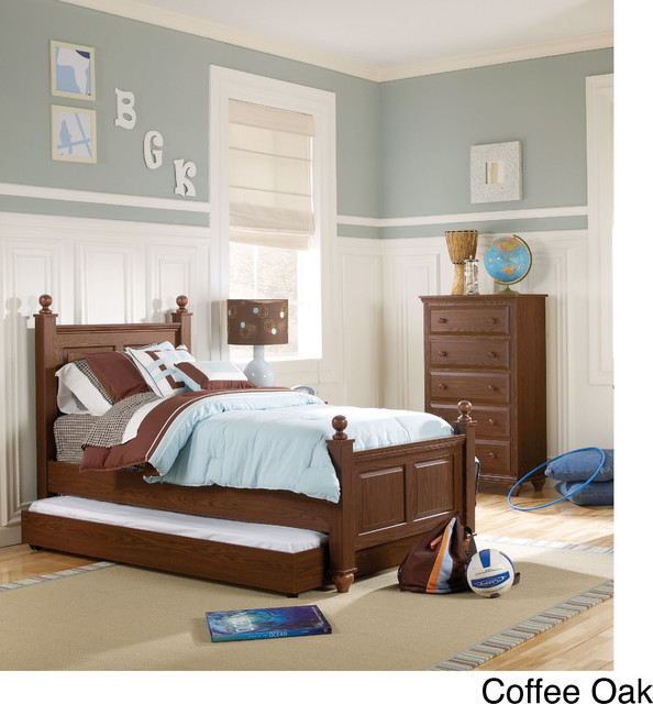 twin size four poster bed frame contemporary kids beds by. Black Bedroom Furniture Sets. Home Design Ideas
