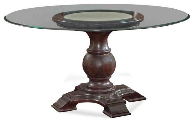 Bassett Mirror Rd Carved Baluster Base D2619 700 Traditional Dining Tables Salt Lake