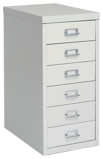 Bisley 6-Drawer Under Desk Multi-Drawer Cabinet ...