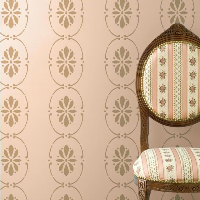 Wall Stencils Royal Design : Swedish floral wall stencil border scandinavian