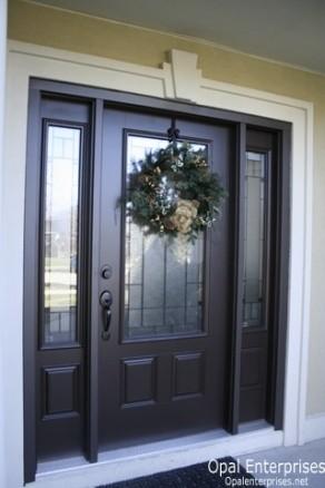 Black Front Door With Glass Work Unique White Doorway