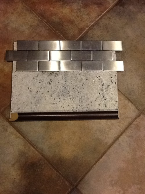 what color grout for stainless steel backsplash