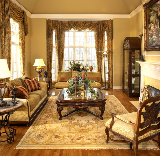 Living Room Interior Design: Old World Elegance
